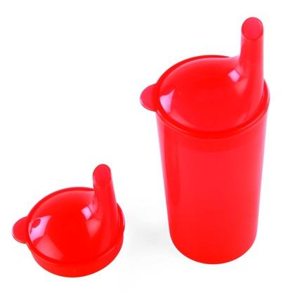 HA 4262 Hrnek s víčkem a pítkem - červený