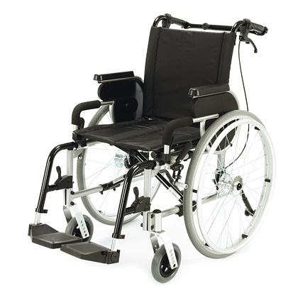 DUPONT PRIMEO Invalidní vozík odlehčený s brzdami pro doprovod